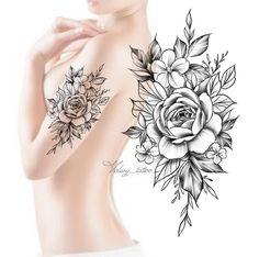 Tattoos – Flower tattoo designs – Tattoo designs – Flower tattoos – Tattoo d… – Halle Tattoo Femeninos, Make Tattoo, Cover Tattoo, Tattoo Girls, Girl Tattoos, Tattoos For Guys, Neue Tattoos, Body Art Tattoos, Flower Tattoo Designs