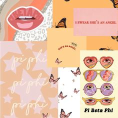Big Little Basket, Artsy Background, Angel Babies, Pi Beta Phi, Alpha Chi Omega, Sorority Crafts, Wall Collage, Picture Wall, Aesthetic Wallpapers