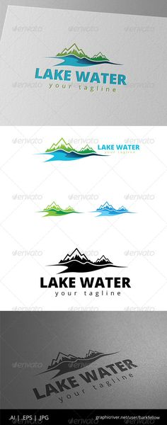 Lake Mountain Nature Logo — Vector EPS #hotel #simple • Available here → https://graphicriver.net/item/lake-mountain-nature-logo/8519576?ref=pxcr
