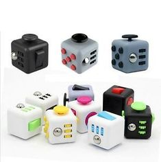 Fun Fidget Cube 6 Side Dice Anxiety Attention Stress Relief Toys Gift 11 Colors