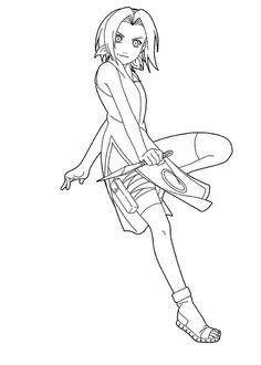 Cartoon Coloring, Naruto Coloring Pages Sakura Haruno: Naruto Coloring Pages…