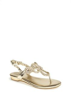 Stuart Weitzman 'Fire Opal' Thong Sandal (Little Kid & Big Kid) available at #Nordstrom