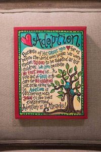 Adoption Canvas [1040102] - $56.50 : g l o r y   h a u s, Home Is Where Your Story Begins