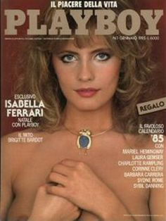 Playboy Italy January 1985 with Isabella Ferrari on the cover of the magazine