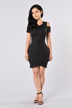 Split Up Dress - Black