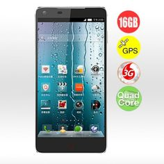 "ZTE Nubia Z5 Ultrathin 5.0"" Quad Core Android 4.1 3G Smartphone with 2GB RAM/16GB ROM/GPS/13.0MP - Black"