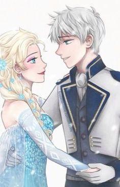 Elsa y Jack pero Jack con aspecto de príncipe XD