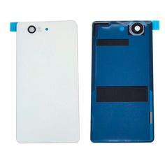 Case For Sony Xperia Z3 Compact D5803 D5833 Rear Back Cover Battery Door Housing glass white and black Z3 Compact Accessories