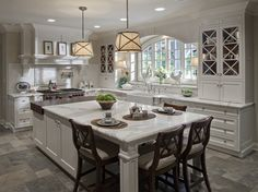 From drurydesigns.com. but with floor and ceiling from farmhouse traditional kitchen to make room more cozy