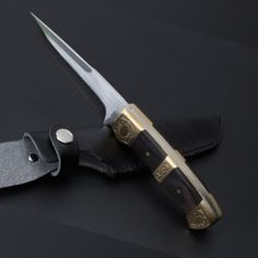 Outdoor Tactical Survival Hunting Knives Copper Handle Fix Blade - Tactical Survival Tools Crossbow Targets, Crossbow Arrows, Crossbow Hunting, Hunting Knives, Tactical Survival, Survival Knife, Survival Prepping, Survival Tools, Tactical Swords
