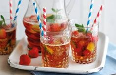 This very berry Pimm's recipe turns our favourite alcoholic summer mixer into a light and fruity punch. Mixed with plenty of lemonade and finished with fresh strawberries and raspberries and a few sprigs of mint, this cocktail can be made in no time.Get the recipe: Very berry Pimm's