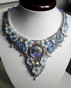 Beautiful embroidered jewelry by Alena Cilenticyriver(II)   Beads Magic