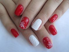 Beautiful new year's nail, Beautiful winter nails, Christmas gel polish…