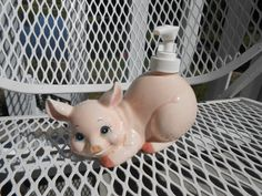 Pig / Pig Kitchen / Figurine / Soap Dispenser / by MissMarigolds