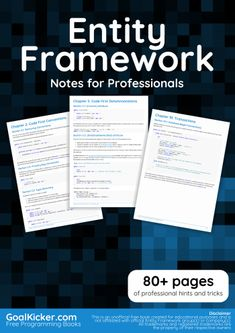 Entity Framework Notes for Professionals Python Programming Books, Free Programming Books, C Programming Tutorials, Learn Computer Coding, Computer Programming Languages, Life Hacks Computer, Learn Computer Science, Basic Programming, Computer Class