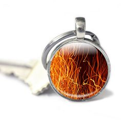 Fire Keyring handmade in the UK https://www.etsy.com/GlassCharmed/listing/167445893/fire-keychain-flames-keychain-glass