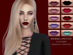 Sims 4 CC's - The Best: Ariana Lipstick by Magnolia