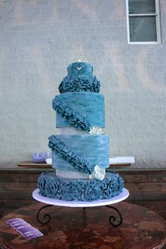 Denim & Diamond Cake by Bakers Man