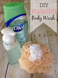 Want to save more money on toiletries? Try this easy way to make DIY Foaming Body Wash. It's so simple to make and you can save lots of money.