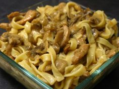 Noodles with Chicken and Mushrooms Recipes & food