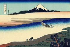 36 Views Or Mount Fuji - Katsushika Hokusai c. 1760 - 1849. This print is #27 being an ink print made from woodblock. Title - Tama River in Musashi Province. Bushū Tamagawa. 武州玉川.