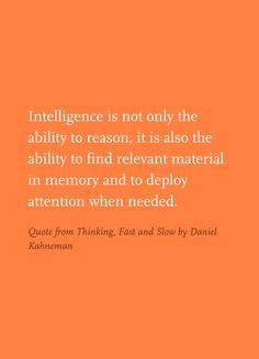 Quote from Thinking, Fast and Slow by Daniel Kahneman Thinking Fast And Slow, Personal Goals, Always Learning, Professional Development, Decision Making, Awakening, Me Quotes, Psychology, Encouragement