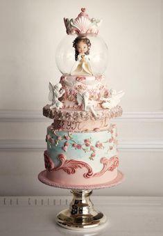 Snow Globe Cake - Cake by Kek Couture
