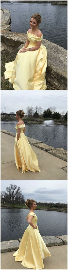 Yellow Prom Dresses Long, 2019 Princess Prom Dresses With Pockets, Satin Prom Dresses Simple, Unique Prom Dresses Off The Shoulder Cheap Prom Dresses Online, Cheap Formal Dresses, Affordable Prom Dresses, Prom Dresses Uk, Evening Dresses Online, Unique Prom Dresses, Designer Evening Dresses, Cheap Evening Dresses, Graduation Dresses