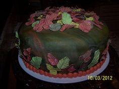 Fall colors Bday Cake.