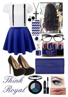 ~Think Royal~ by raianna-starz on Polyvore featuring Lipsy, Office, CHARLES & KEITH, Allurez, Bridge Jewelry, Bobbi Brown Cosmetics, Smashbox, NYX, Topshop and Kate Spade