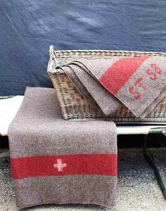 Just got one of these from the Crown Surplus today! Vintage swiss army blanket…