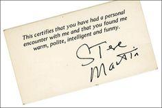 The brilliantly brilliant Steve Martin.