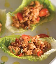"""Ligeros y deliciosos: """"Tacos de lechuga con pollo"""""""