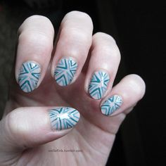 31DC2013, Days 15 &16, Delicate print and tribal. Nails by Well of Ink Nails.
