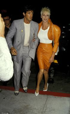 But in an interview with TMZ , Brigitte Nielsen (pictured with Stallone) said the incident could not have occurred because the couple were together the whole time Celebrities Then And Now, Famous Celebrities, Celebs, Hollywood Actor, Hollywood Stars, 80s Fashion, Vintage Fashion, Women Lawyer, Beauty Full Girl