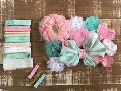 Sweetheart headband kit - diy headband kit - baby headband - baby shower headband station - headband supplies - hair bow supplies - headband by CuteAsaBowSupplyCo on Etsy