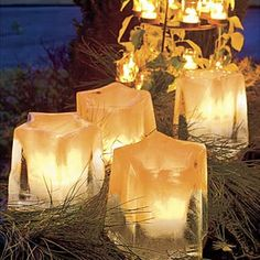 Iced candle holders