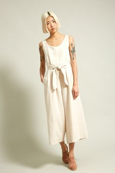 No.6 Alice Jumpsuit in Beach Linen