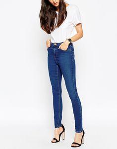 ASOS Ridley Skinny Jeans In Della Dark Wash