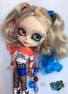 Hey, I found this really awesome Etsy listing at https://www.etsy.com/listing/513713145/ooak-custom-blythe-harley-quinn