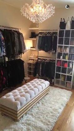 Jaclyn Hill's closet is goals #manchesterwarehouse                                                                                                                                                     More