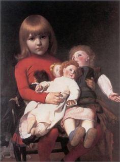 Madeleine Juliette Gerome and Her Dolls - Jean-Leon Gerome