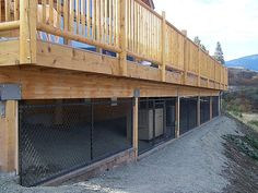 Under The Deck Dog Shade.. Minus The Chain Link, I Think This Would