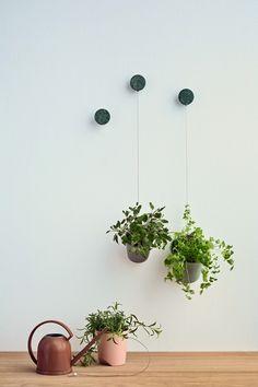 The Design Chaser  quaint little hanging pots!