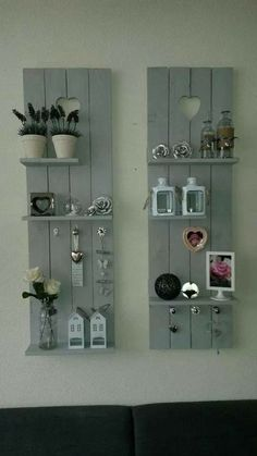 Pallet Furniture Projects Leuk - By the end of this creative roll of DIY pallet shelves, you'll want every shelf at your place. Diy Pallet Projects, Home Projects, Pallet Ideas, Pallet Designs, Carpentry Projects, Wood Ideas, Homemade Wall Decorations, Diy Regal, Diy Casa