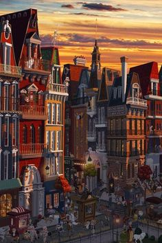 The Art Of Animation — Matthew H Sharack Art And Illustration, Building Illustration, Urban Sketching, Environment Design, City Art, Whimsical Art, Art Plastique, Art Inspo, Amazing Art