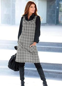 Black Tie Gown, Check Pinafore Dress, Jumper Dress, Dress Sewing Patterns, Baby Girl Dresses, Dress Making, Blouses For Women, Cool Outfits, Fashion Dresses