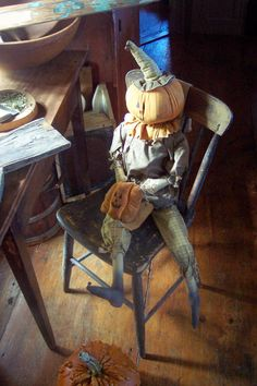 blacktavernprimitives- my pumpkin  man- a wonderful friend made for me some years back.