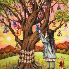 Chris Cheng, Alone, The Little Match Girl, Forest Girl, Girl Sketch, Girl And Dog, Whimsical Art, Disney Wallpaper, Cute Illustration