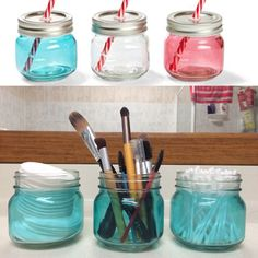 $1 Kmart jars hacked for bathroom organisation